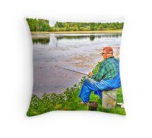 A Break from Farming Throw Pillow