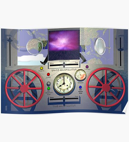 MSTC ( Manipulation of space - time continuum) machine main control panel. Poster