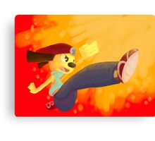 Jump Kick Chop! Canvas Print