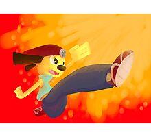Jump Kick Chop! Photographic Print