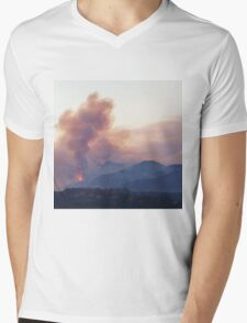 Station Fire Mens V-Neck T-Shirt