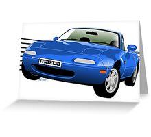 Mazda MX-5/Miata NA blue Greeting Card
