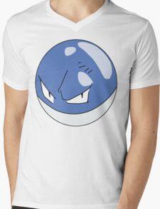 Shiny Voltorb, Pokemon Mens V-Neck T-Shirt
