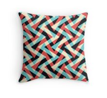 Crazy Retro ZigZag Throw Pillow