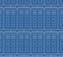 Doctor Who TARDIS Blueprint Pattern by CorrieJacobs