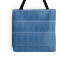 Doctor Who TARDIS Blueprint Pattern Tote Bag