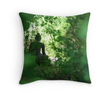 Sneaking up on Buddha Throw Pillow