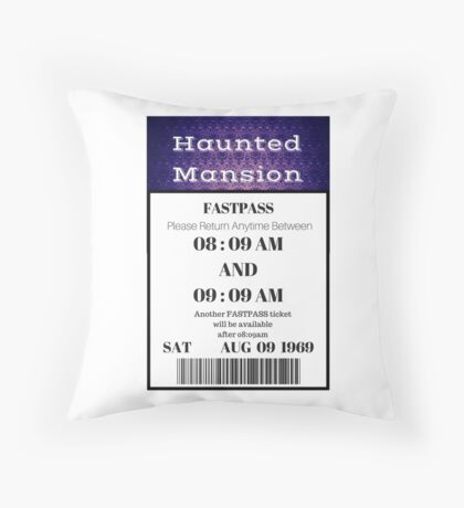 Mansion Fastpass Throw Pillow