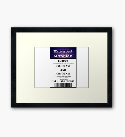 Mansion Fastpass Framed Print