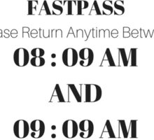 Mansion Fastpass Sticker