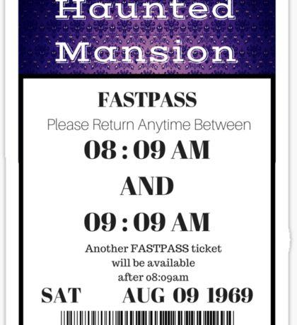 Mansion Fastpass Sticker