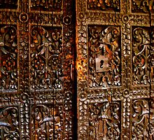 Old Door in La Paz by Valerie Rosen