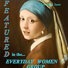 Girl with the Pearl Ear Ring, Banner entry, Everyday Women by Cathy Amendola
