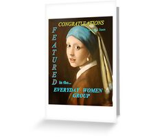 Girl with the Pearl Ear Ring, Banner entry, Everyday Women Greeting Card