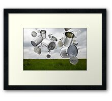 Can & Foil Recycling Framed Print