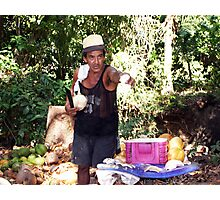 Coconut Man Photographic Print