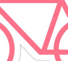 Pink Bicycle Love - Fixie Hearts Sticker