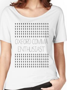 Oxford Comma Enthusiast - Grammar Police Badge Women's Relaxed Fit T-Shirt