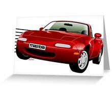 Mazda MX-5/Miata NA red Greeting Card