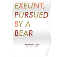 Exeunt Pursued By A Bear - Shakespeare Poster