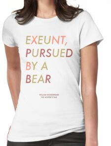 Exeunt Pursued By A Bear - Shakespeare Womens Fitted T-Shirt