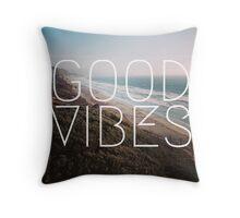 Good Vibes Cool Beach Tumblr Hipster Print Throw Pillow