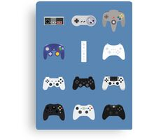 Game Controllers [Blue] Canvas Print