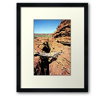 Old Wooden Bridge, Kings Canyon Framed Print