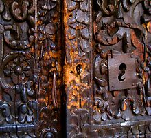 Old Door in La Paz (close-up) by Valerie Rosen