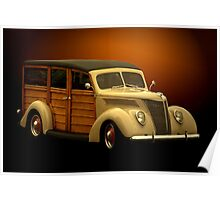 1937 Ford Woody Poster