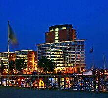 Hamburg Harbour Night by SmoothBreeze7