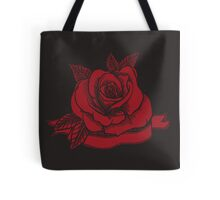 Rose Tattoo Woodcut Tote Bag