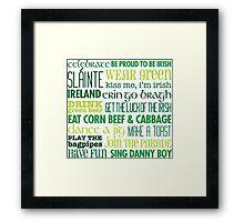 Rules for St Patricks Day Framed Print