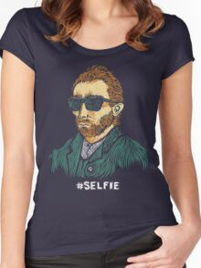 Van Gogh: Master of the Selfie Women's Fitted Scoop T-Shirt