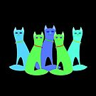 Cool Cats by Jean Gregory  Evans