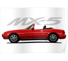 Mazda MX-5 red Poster