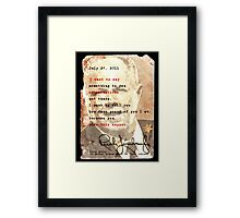 Rush Limbaugh is right Framed Print