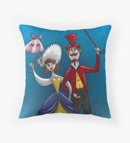 Dapper couple Throw Pillow