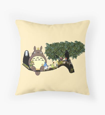 Totoro and More Throw Pillow