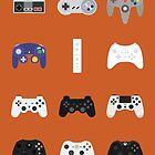 Game Controllers [Orange] by Fardan Munshi
