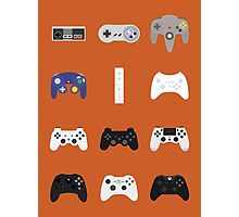 Game Controllers [Orange] Photographic Print