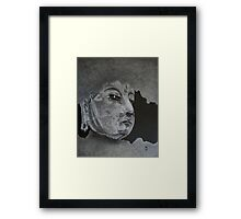 What Is Your Original Face? Framed Print