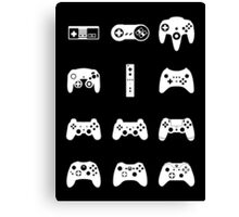 Minimalist Game Controllers  Canvas Print