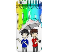 Dan & Phil - Melted Crayons iPhone Case/Skin