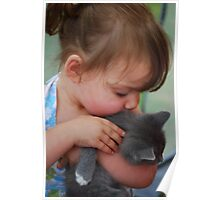 Give the Kitty Kisses Poster