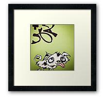 Emerald Ink Puppy Framed Print