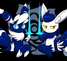 Meowstic Couple by Axl-fox