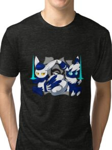 Meowstic Couple Tri-blend T-Shirt