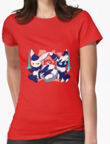 Meowstic Couple Womens Fitted T-Shirt