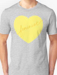 Feminist Heart (Yellow) T-Shirt
